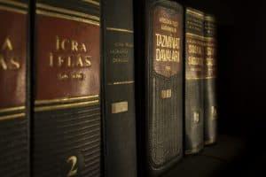 תמונה של ספרים באנגלית בנושא משפטים